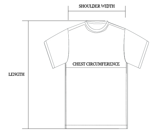 Tshirt size guide image