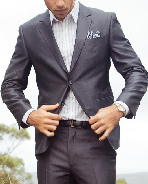 METALLIC Grey Suit | UBERMEN