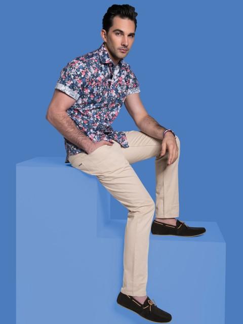 UBERMEN Floral Printed Shirt