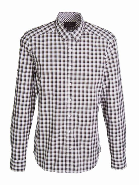 UBERMEN Black Check Long Sleeve Shirt - CHESS