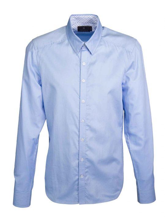 UBERMEN Blue Business Long Sleeve Shirt - PILOT