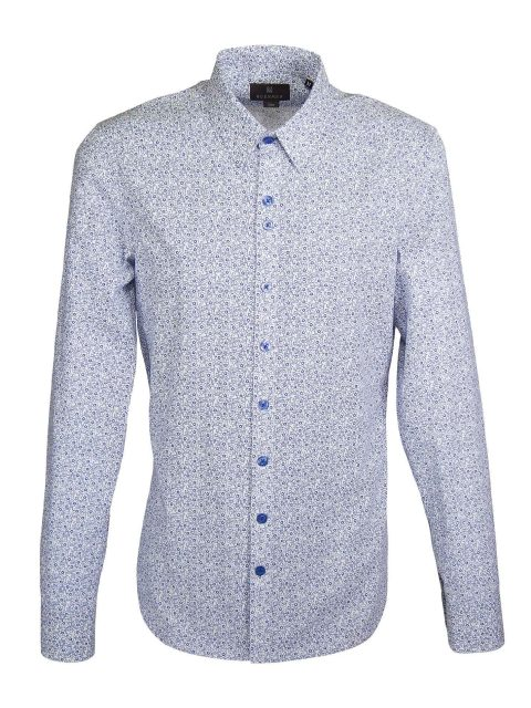 UBERMEN Blue Floral Long Sleeve Shirt - Arthur