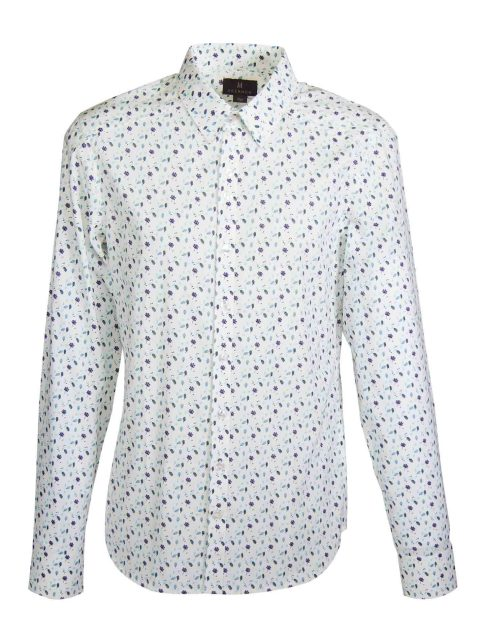 UBERMEN Blue Floral Long Sleeve Shirt - GUS