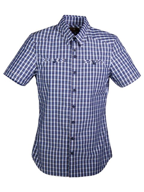 UBERMEN Blue Short Sleeve Shirt - FUSION