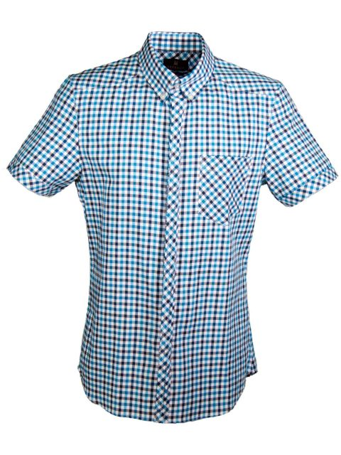 UBERMEN Blue  Short Sleeve Shirt - PILOT