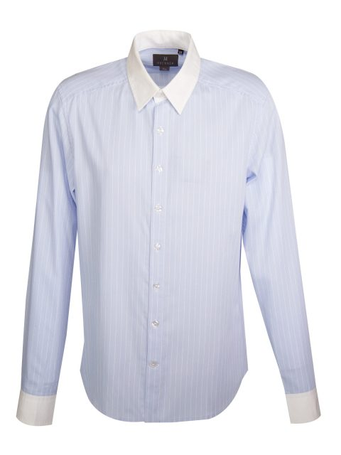 UBERMEN Blue Stripe Long Sleeve Shirt - SEMION