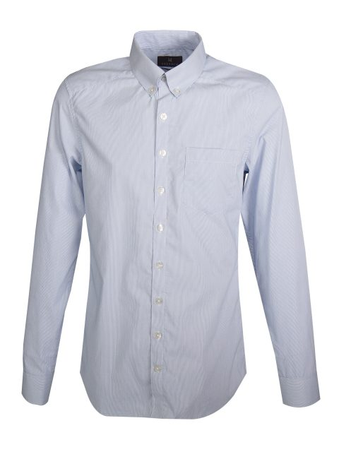UBERMEN Blue Stripe Long Sleeve Shirt TRUSTWORTHY