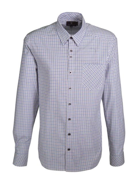 UBERMEN Check Cotton Long Sleeve Shirt - JOHN
