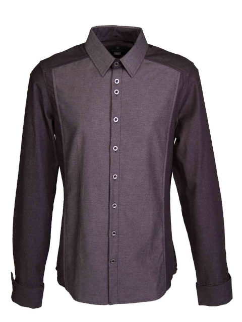 UBERMEN Denim  Long Sleeve Shirt - STEEL