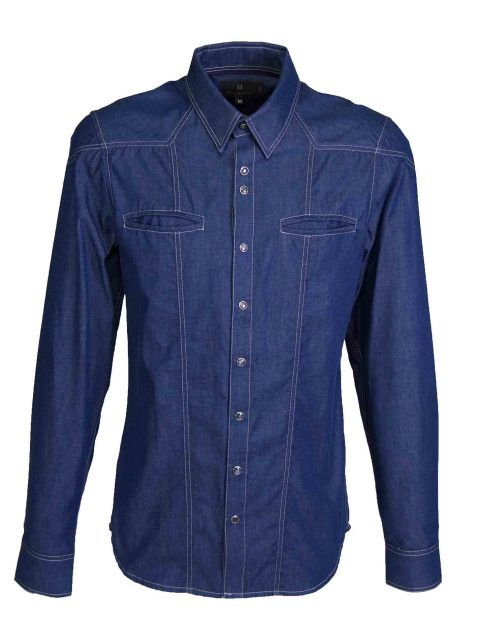 UBERMEN Denim  Long Sleeve Shirt - VISION