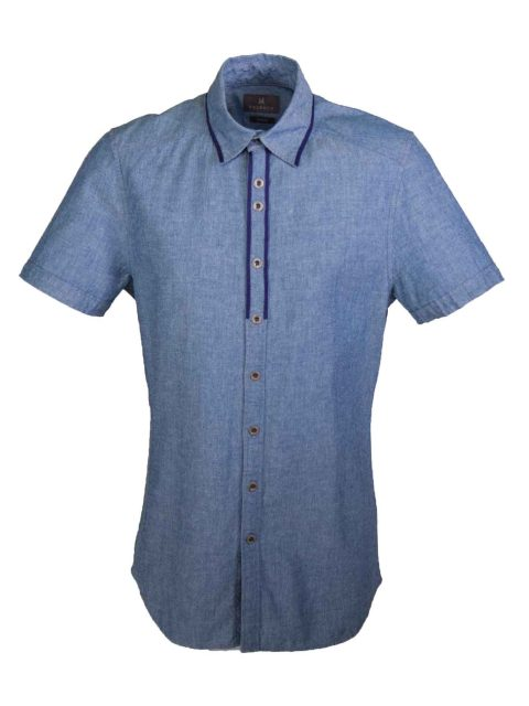 UBERMEN Denim Short Sleeve Shirt - LIGHT