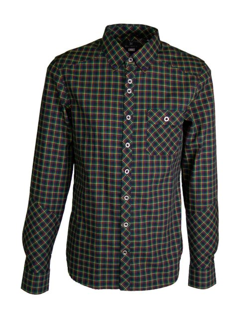 UBERMEN Forest Green Long Sleeve Shirt - EWAN