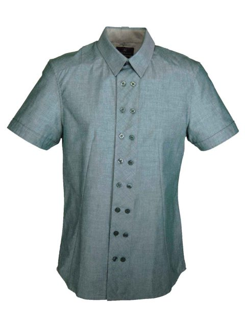UBERMEN Forest Green Short Sleeve Shirt - EMERD