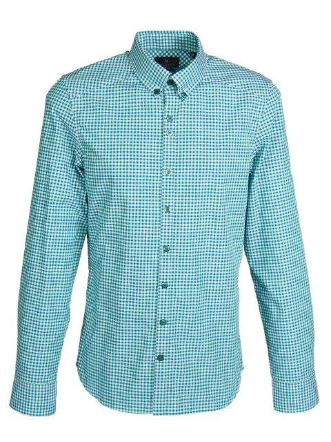 UBERMEN Green Checked Long Sleeve Shirt - MINORITY