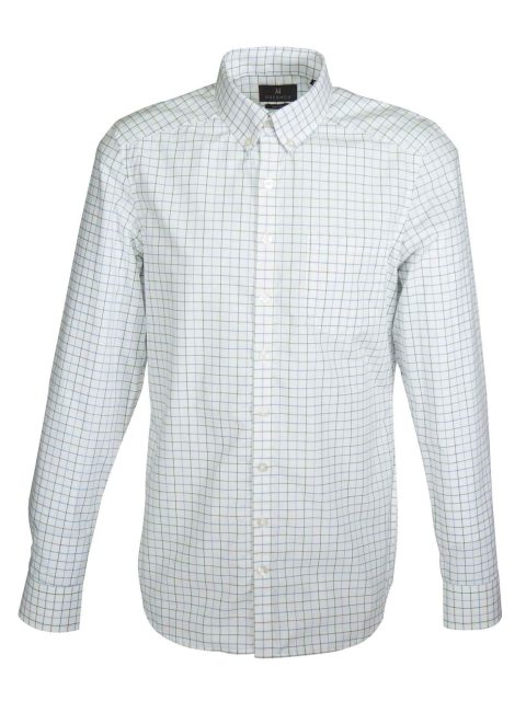 UBERMEN Green Grid Check Long Sleeve Shirt - OVER