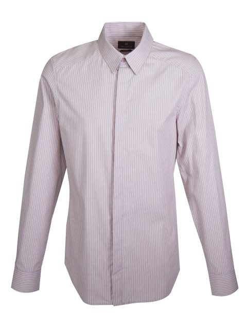 UBERMEN Grey Dobby Stripe Long Sleeve Shirt - ELITE