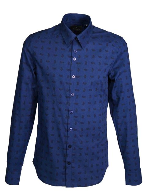 UBERMEN Midnight Paisley Long Sleeve Shirt - EDMUND