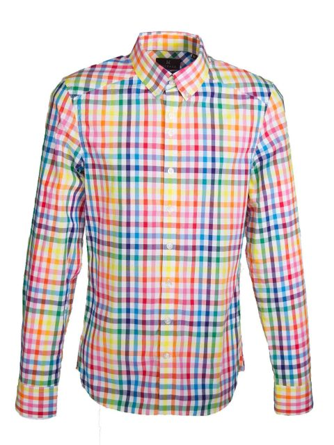 UBERMEN Multi Colour Checked Long Sleeve Shirt - SPECTRUM