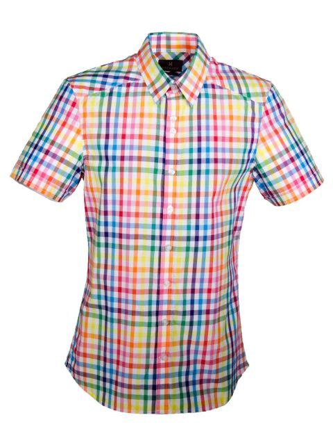 UBERMEN Multi Colour Short Sleeve Shirt - COLLABORATE