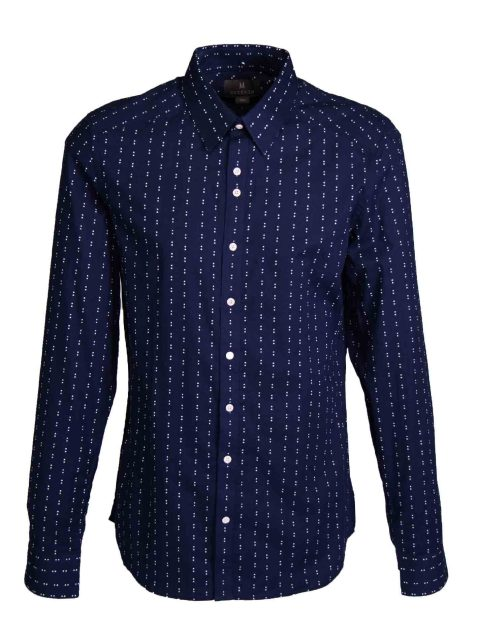 UBERMEN Navy Long Sleeve Shirt - LUSINE