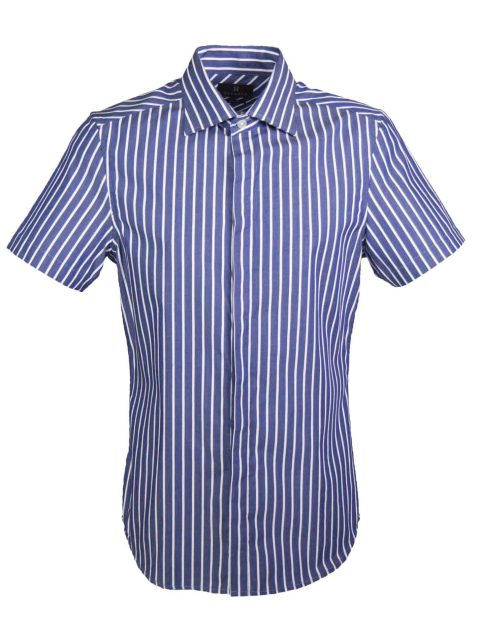 UBERMEN Navy Short Sleeve Shirt - CRUISE