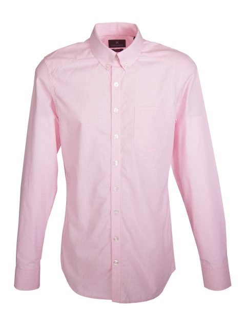UBERMEN Pink Check Long Sleeve Shirt - VIVID