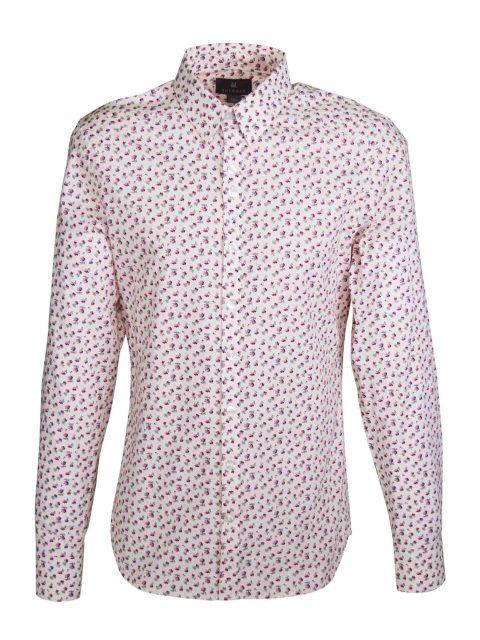 UBERMEN Pink Floral Long Sleeve Shirt - BRADFORD