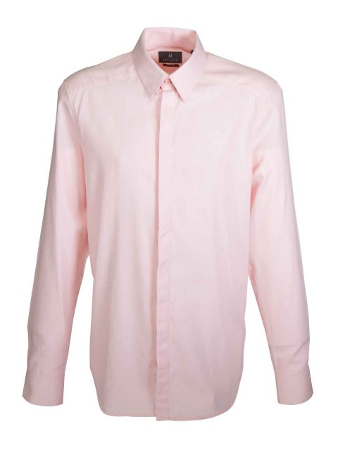 UBERMEN Pink Herringbone Long Sleeve Shirt - FLOYD
