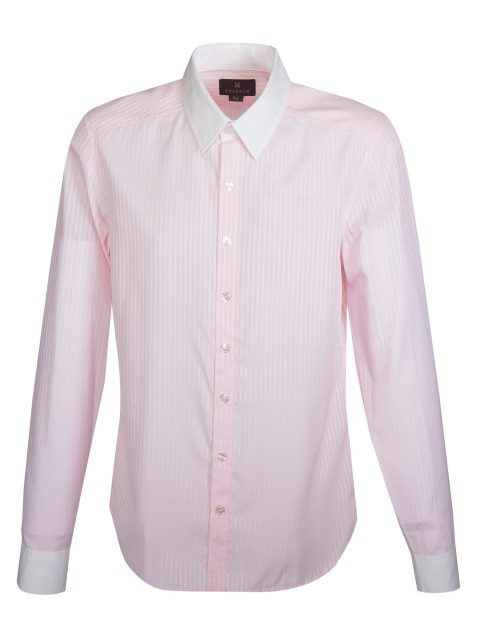 UBERMEN Pink Stripe Long Sleeve Shirt - LIBERTY