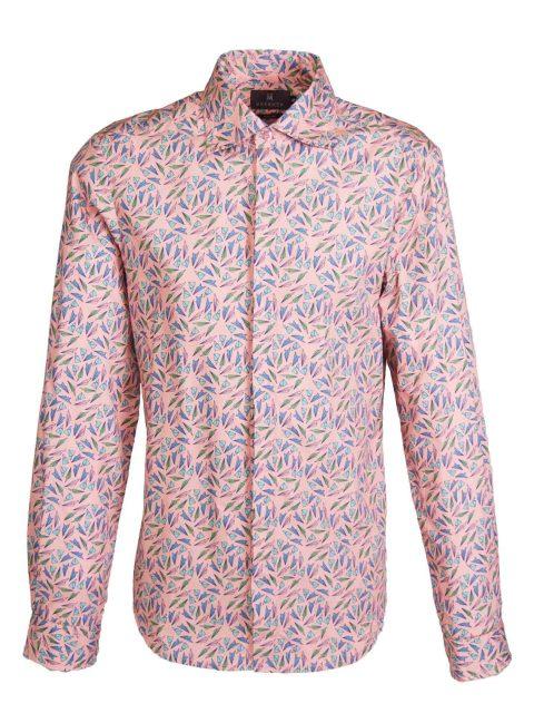 UBERMEN Printed Long Sleeve Shirt - PINK PAPER PLANES.jpg