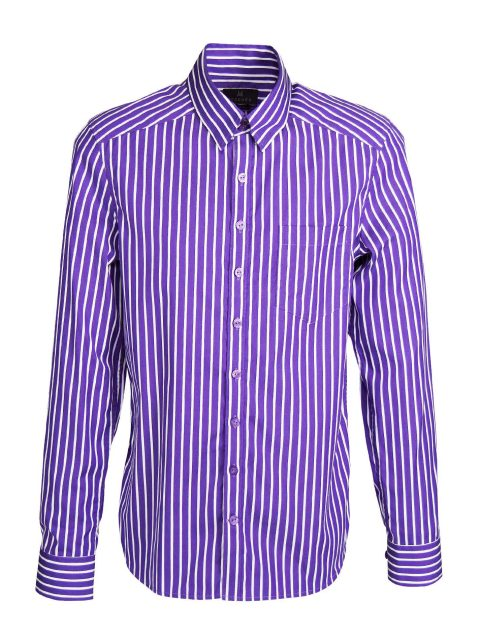 UBERMEN Purple  Business Long Sleeve Shirt - POISE