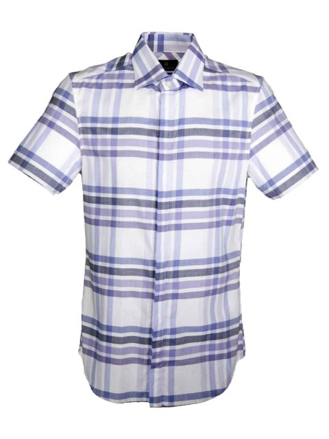 UBERMEN Purple  Short Sleeve Shirt - INDULGE