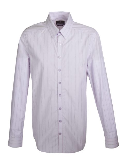 UBERMEN Purple Stripe Long Sleeve Shirt - ESTABLISH