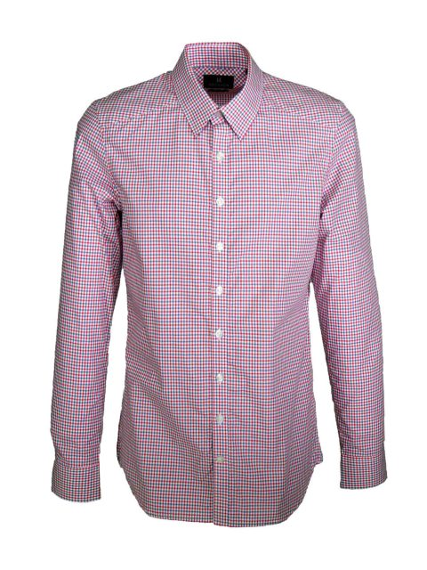 UBERMEN Red Business Long Sleeve Shirt - OUTSPOKEN