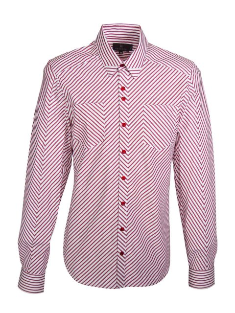 UBERMEN Red Stripe Long Sleeve Shirt - ODYSSEY