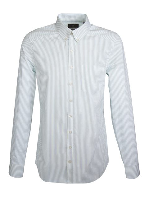 UBERMEN Stripe Long Sleeve Shirt TRANQUIL
