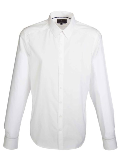 UBERMEN White Business Long Sleeve Shirt - GLOSS