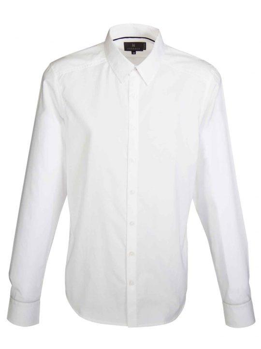 UBERMEN White Business Long Sleeve Shirt - GLOSS