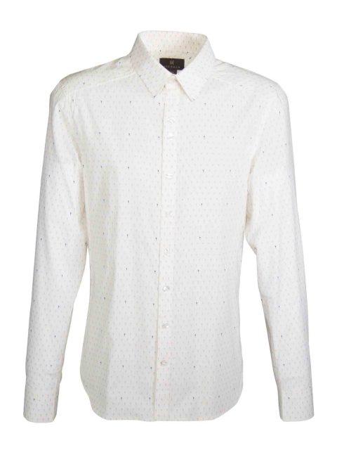 UBERMEN White Floral Long Sleeve Shirt - LEROY