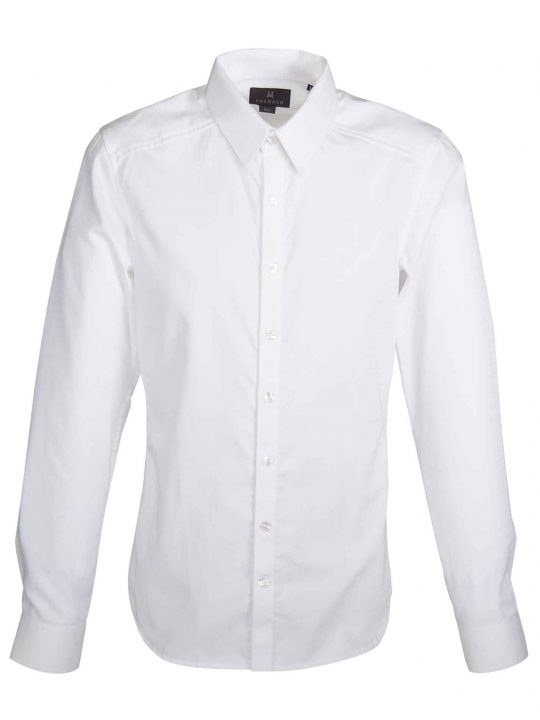 UBERMEN Windowpane Check Business Long Sleeve Shirt - VIEW