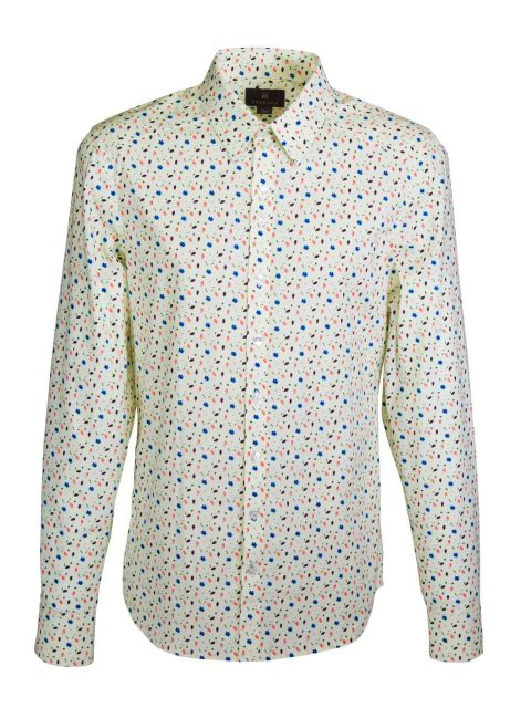 UBERMEN Yellow  Floral Long Sleeve Shirt - ALFRED