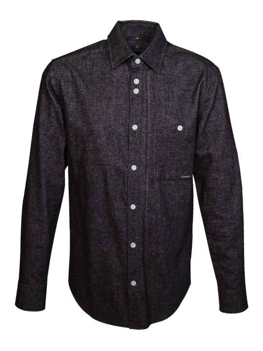 UBERMEN-Black-Brushed-Oxford-Long-Sleeve-Shirt---SPELL
