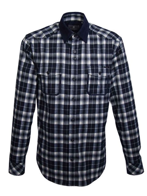 UBERMEN-Blue-Checked-Brushed-Flannel-Long-Sleeve-Shirt---BLUE-GRIZZLY