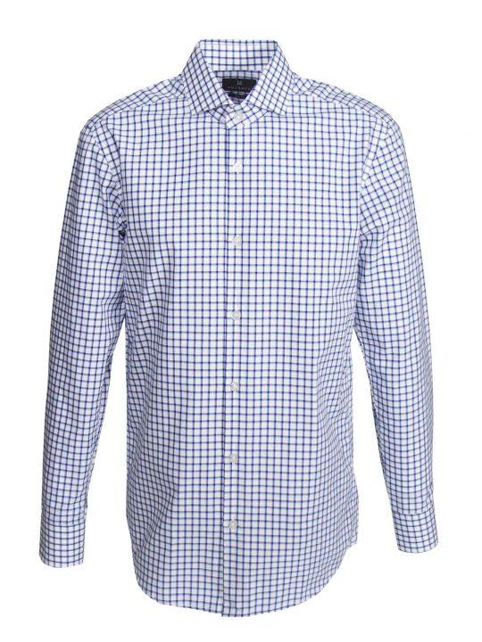 UBERMEN-Blue-Grid-Business-Long-Sleeve-Shirt---QUADRUPLICATE