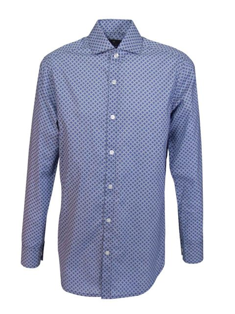 UBERMEN-Blue-Printed-Long-Sleeve-Shirt---LOUIS