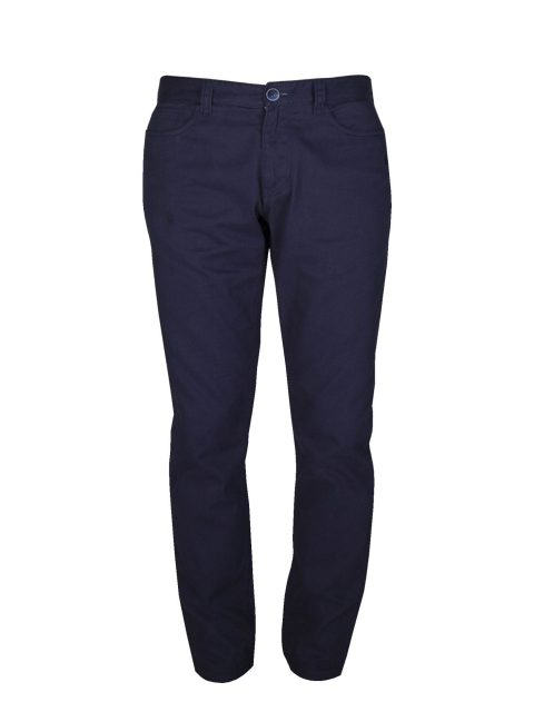 UBERMEN Blue Twill Chino Pants - SAPPHIRE