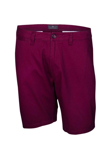 UBERMEN-Burgundy-Cotton-Knee-Length-Short---