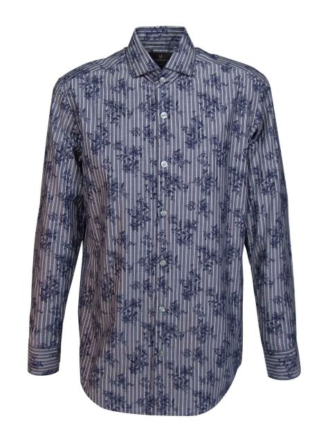 UBERMEN Denim Floral Long Sleeve Shirt - PILGRIM
