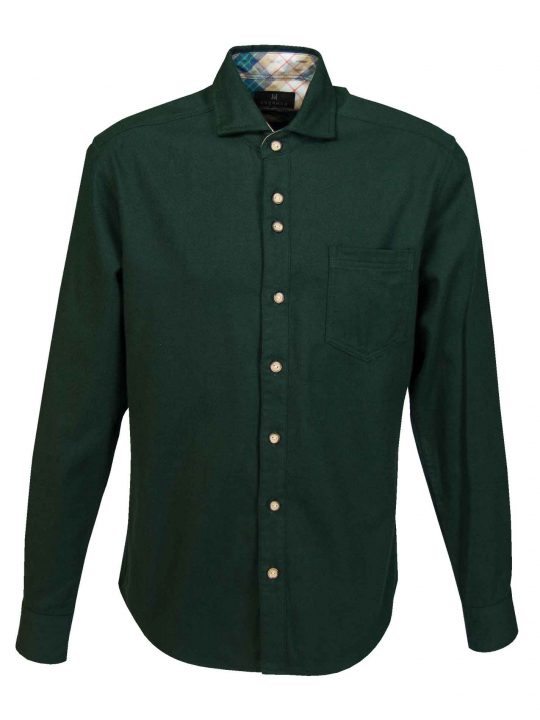 UBERMEN-Green-Flannel-Long-Sleeve-Shirt---FORREST