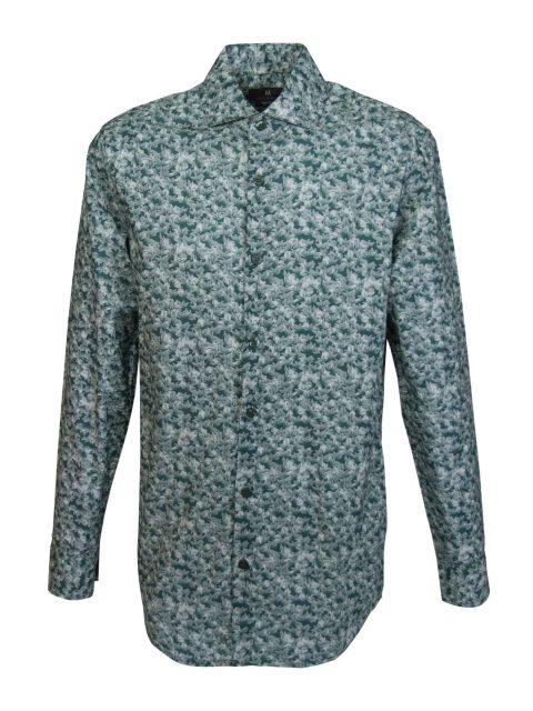 UBERMEN Green Floral Long Sleeve Shirt - MASK